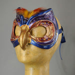 Blue Owl mask side view