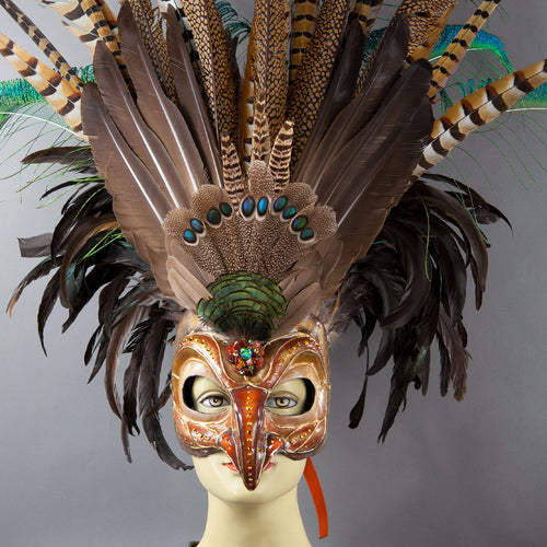 Deluxe Golden Eagle Mask detail