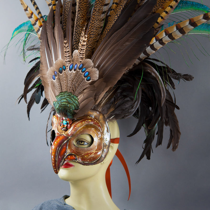 Deluxe Golden Eagle Mask side view