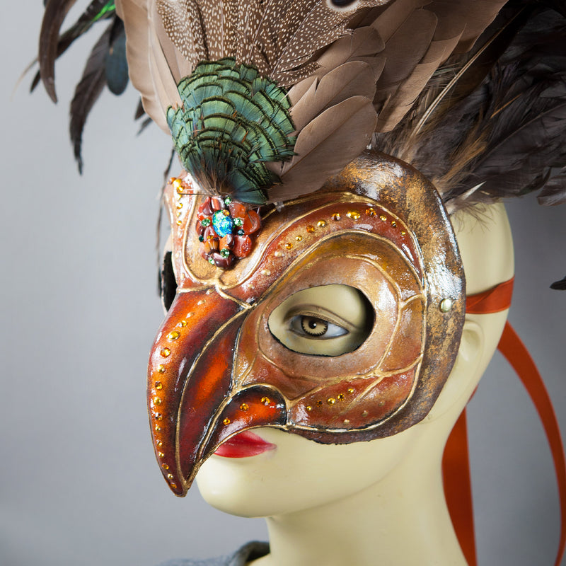 Deluxe Golden Eagle Mask side view detail