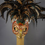 Golden Eagle Feather Masquerade Mask