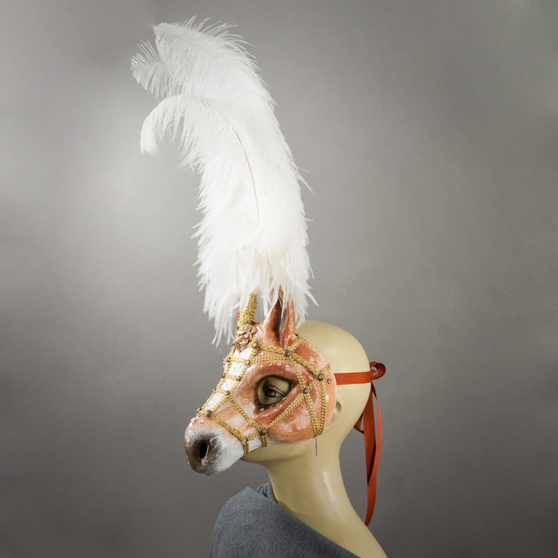 Palomino Horse Mask side view