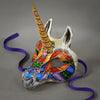 Rainbow Unicorn Masquerade Mask detail