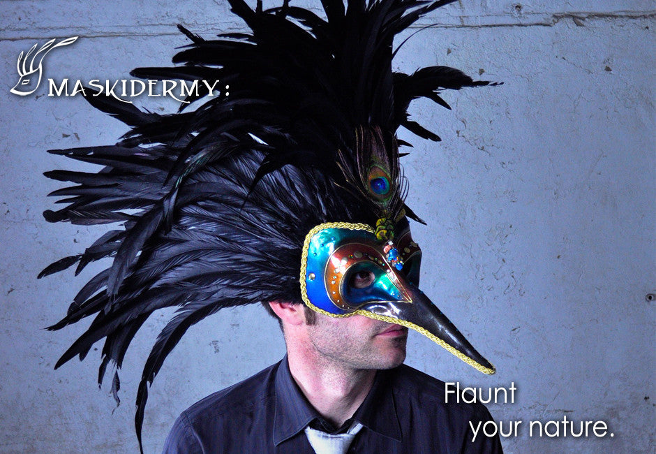 Eriks Inspiration beaked peacock mask maskidermy flaunt your nature