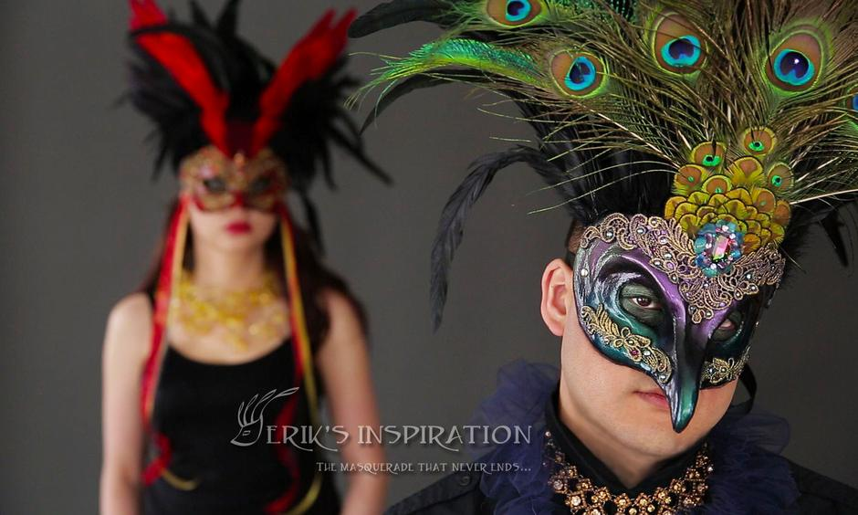 Eriks Inspiration Peacock Empress Mask maskidermy unleash your magic