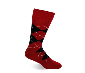 Garnet and Black Argyle - ELL & Atty