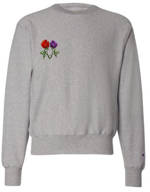 V floral sweatshirt Grey