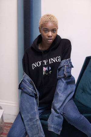 NOTHING VIVENDII FLORAL HOODED SWEAT