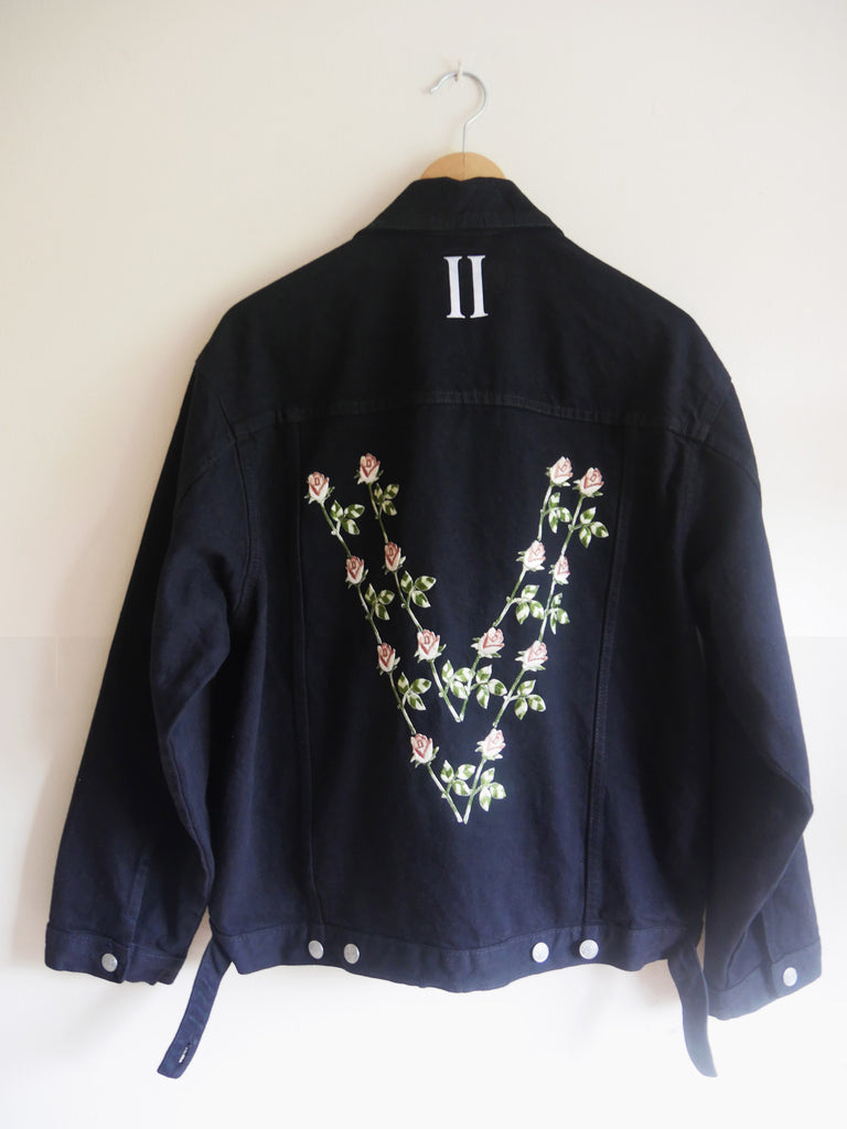 Youthful Floral Trucker Jacket