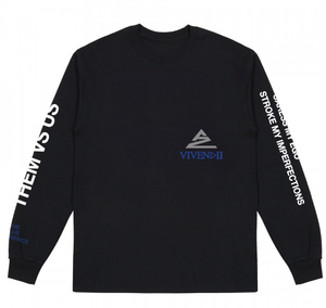 BLUE QUOTE LONGSLEEVE T-SHIRT