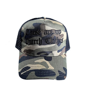 'These are my Church Clothes' Cap CAMO