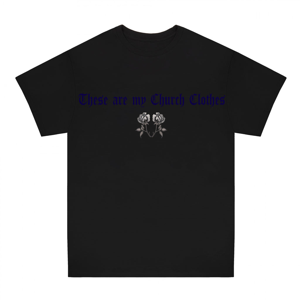 Black Church Clothes roses T-shirt