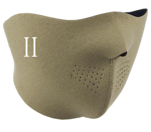 Cream neoprene half face mask