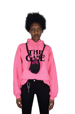 THE GAME IS THE GAME HOODY (PINK)