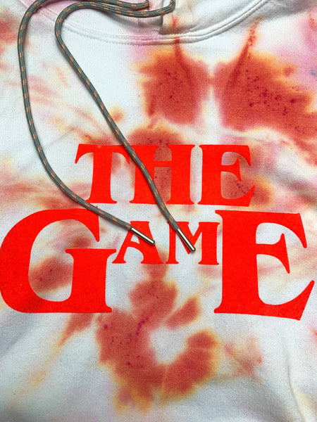 THE GAME IS THE GAME TIE DYE HOODED SWEAT (ORANGE)