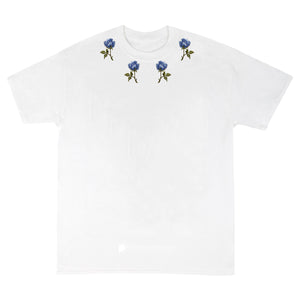 White rose neck T-shirt