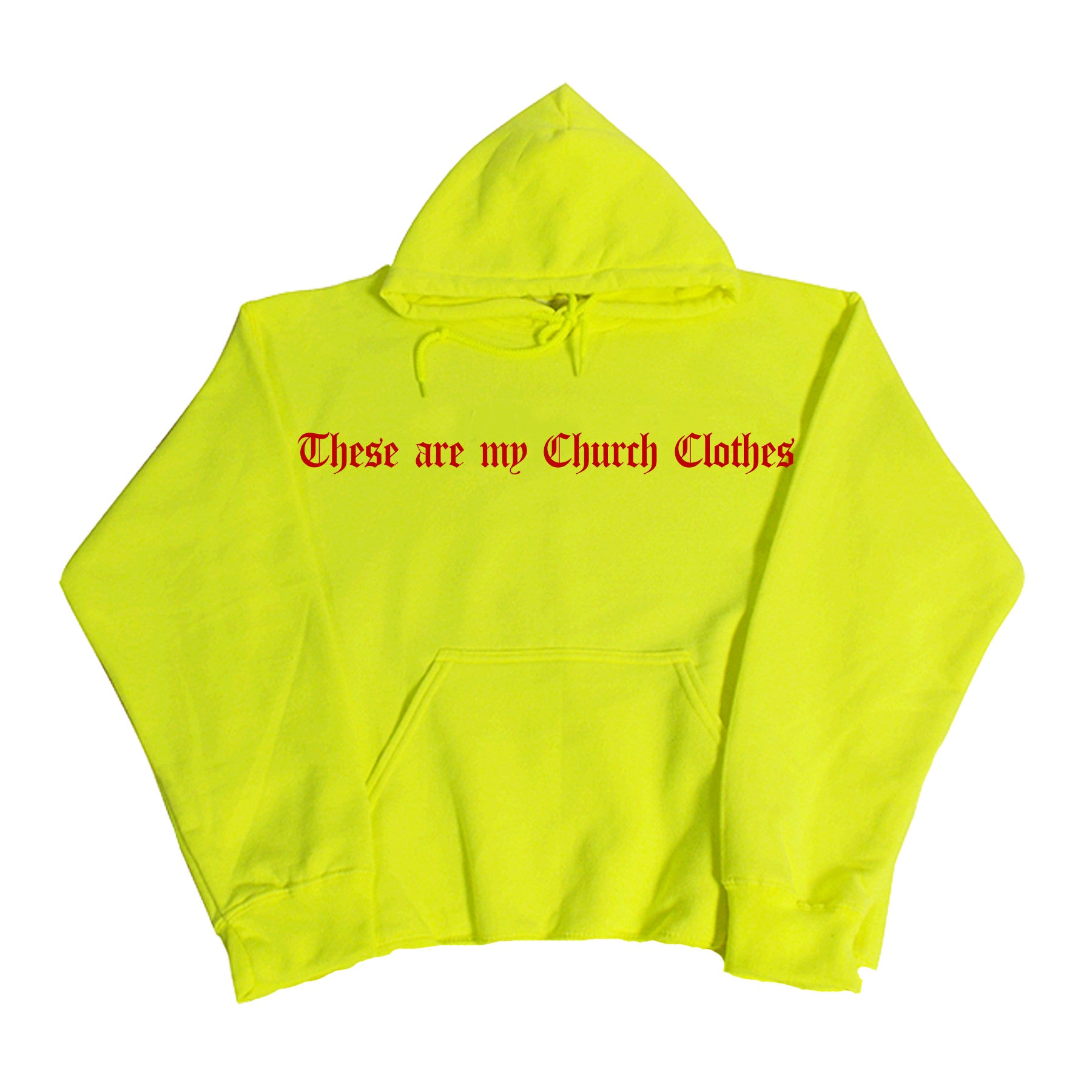 NOTHING VIVENDII HOODED SWEAT NEON GREEN