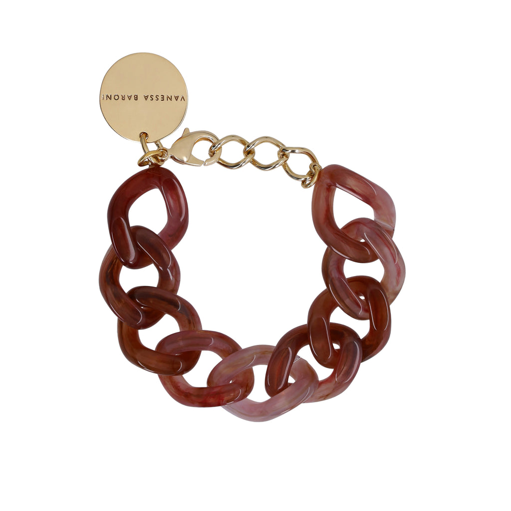 Flat Chain Bracelet brown-multicolor