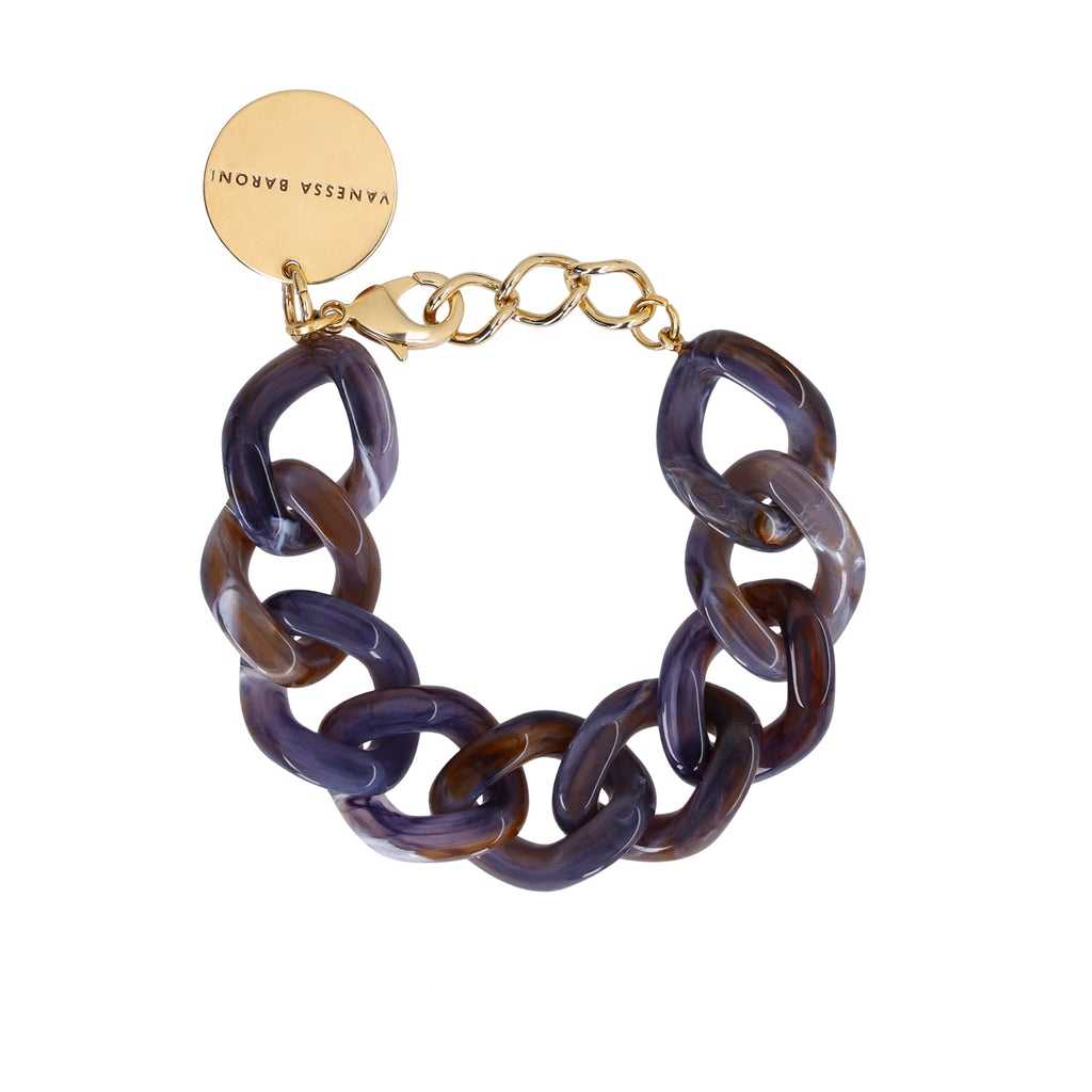 Flat Chain Bracelet blue-multicolor