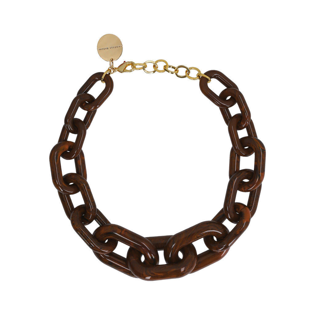Big Chain Necklace wood brown