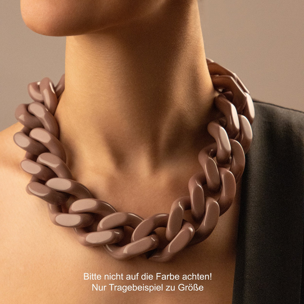 BIG Flat Chain Necklace coral