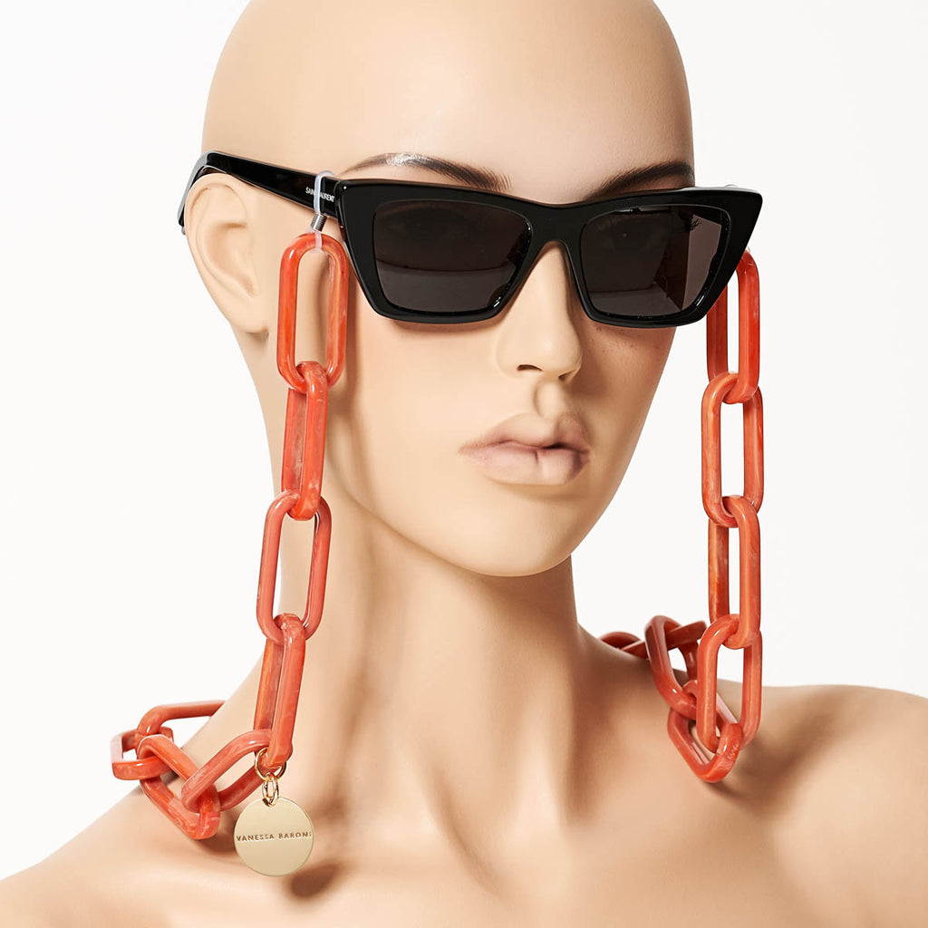 Favorite Eyeglass Chain coral marble