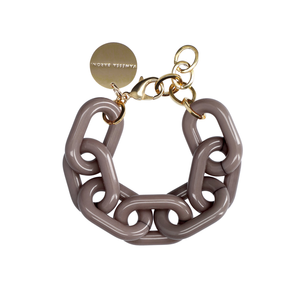 Big Chain Bracelet dark taupe