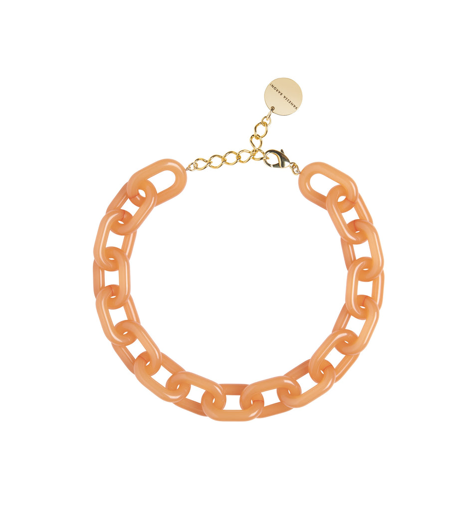 Easy Piece Necklace Short orange