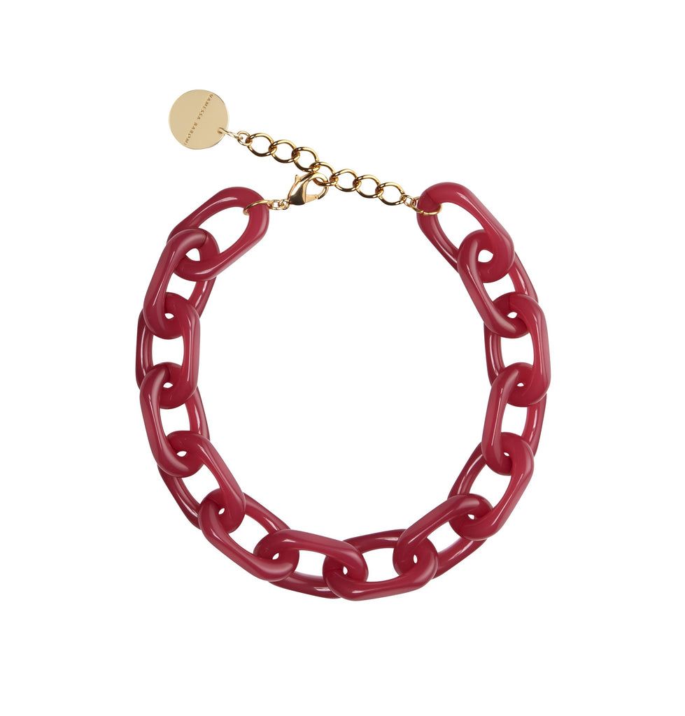 Chain Necklace Short pink