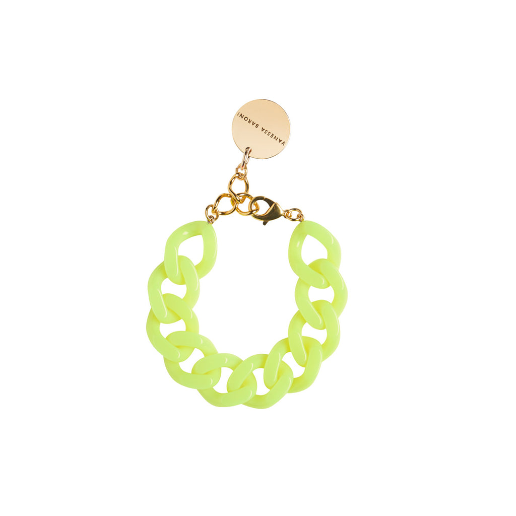 Flat Chain Bracelet yellow neon