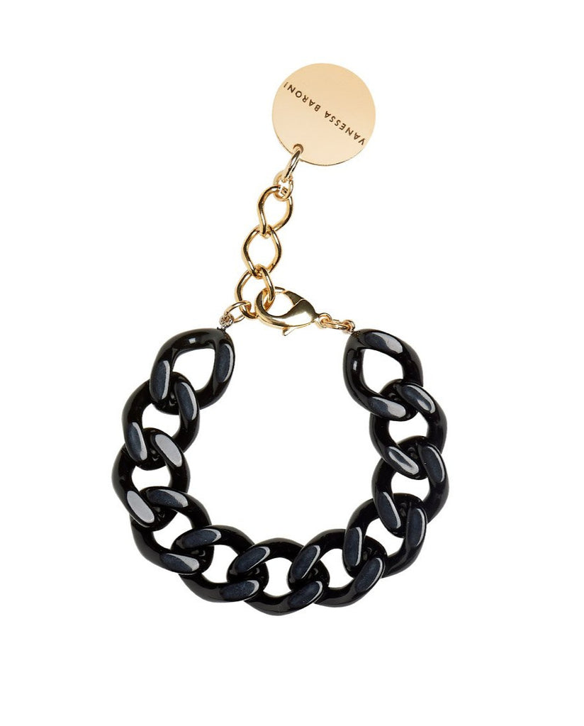 Flat Chain Bracelet dark grey