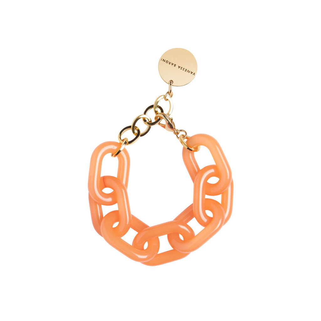 Big Chain Bracelet orange opalin