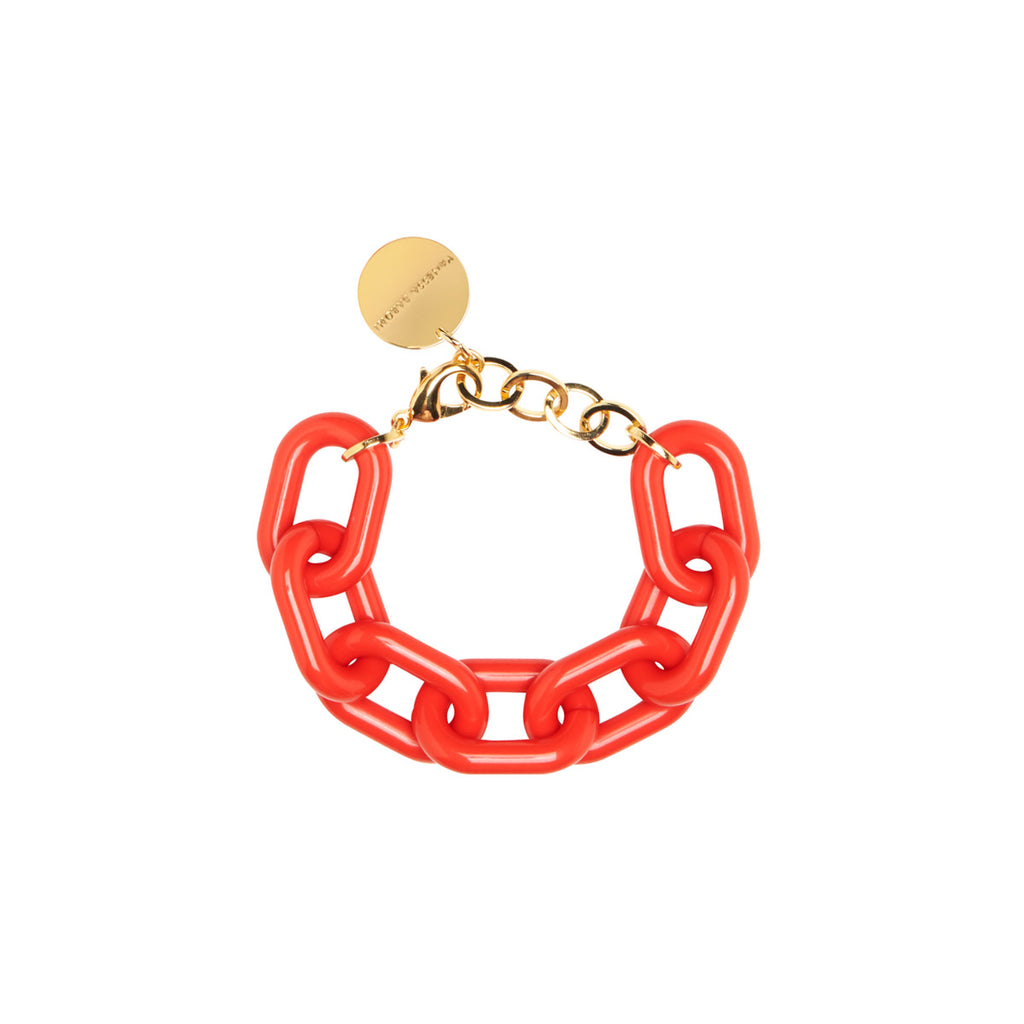 Big Chain Bracelet red