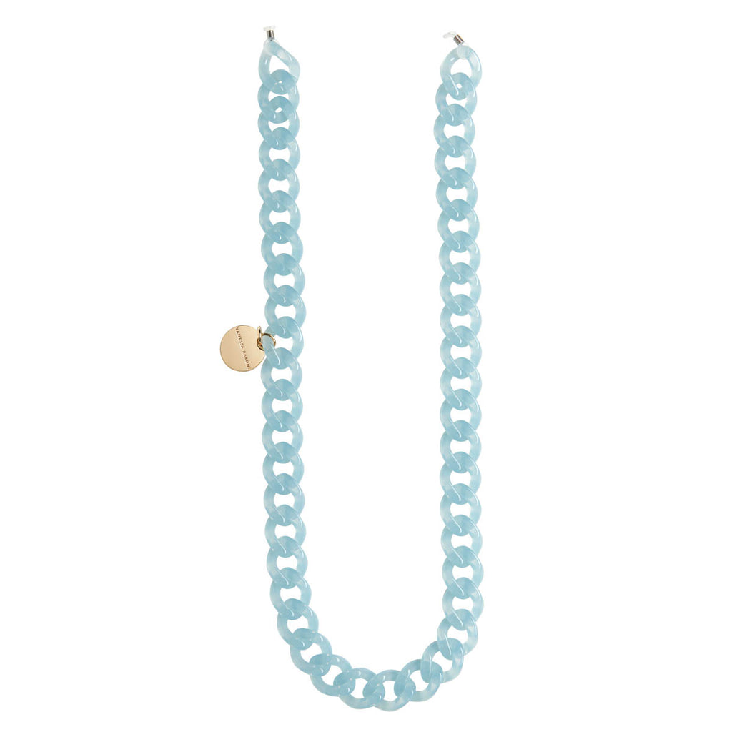 Flat Eyeglass Chain blue opalin