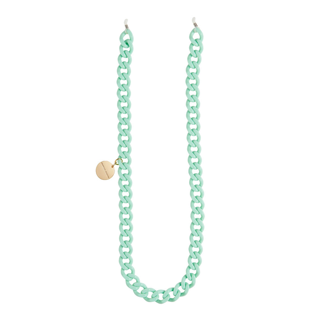 Flat Eyeglass Chain mint solid