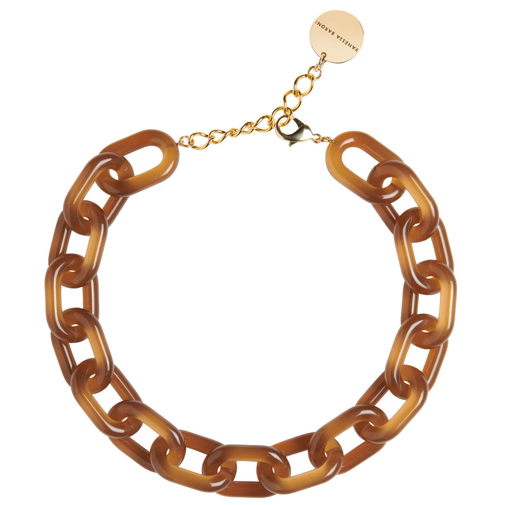 Easy Piece Necklace Short brown opaline