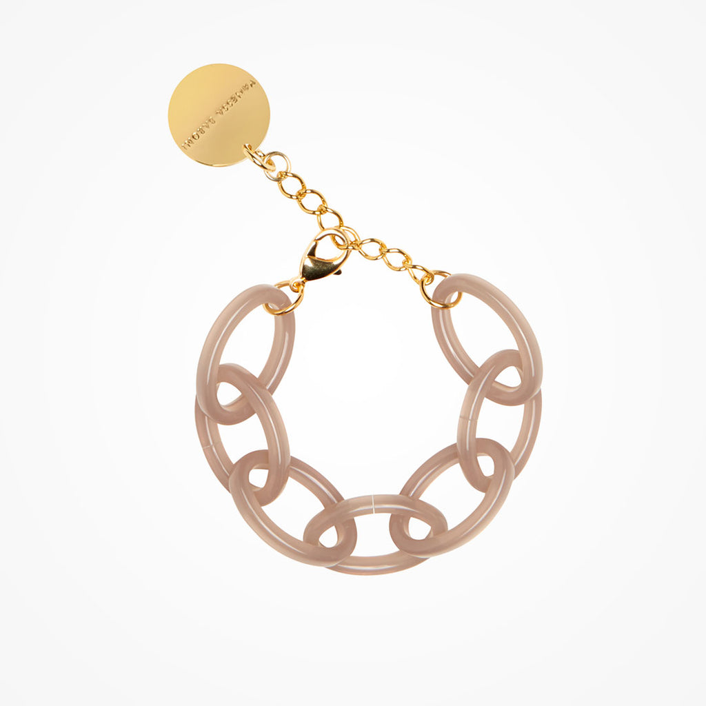 Oval Chain Bracelet milky taupe