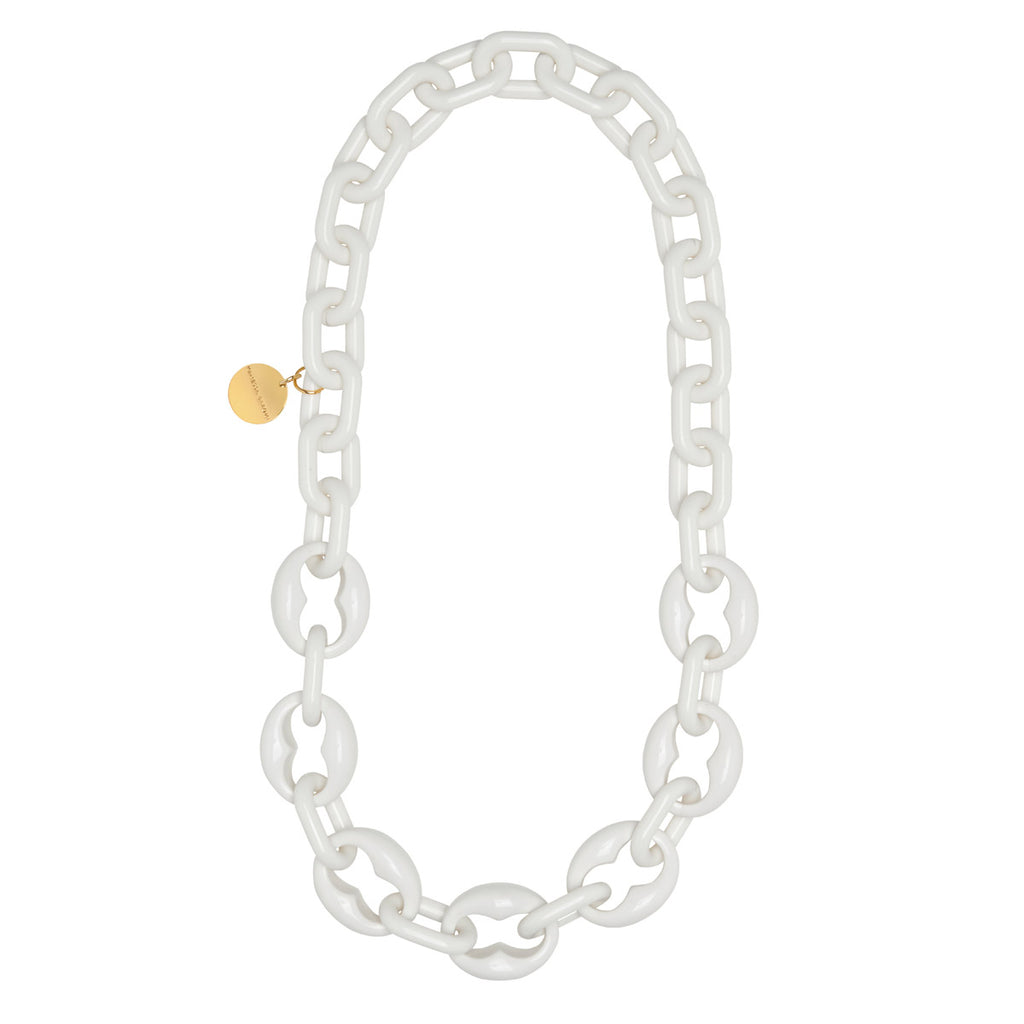 Turtle Necklace Long solid white