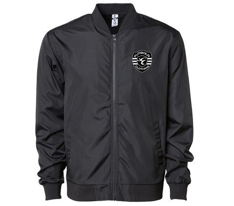 Futbolr End Racism Light Bomber Jacket - Black