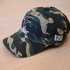 End Racism Futbolr Camo Dad Hat