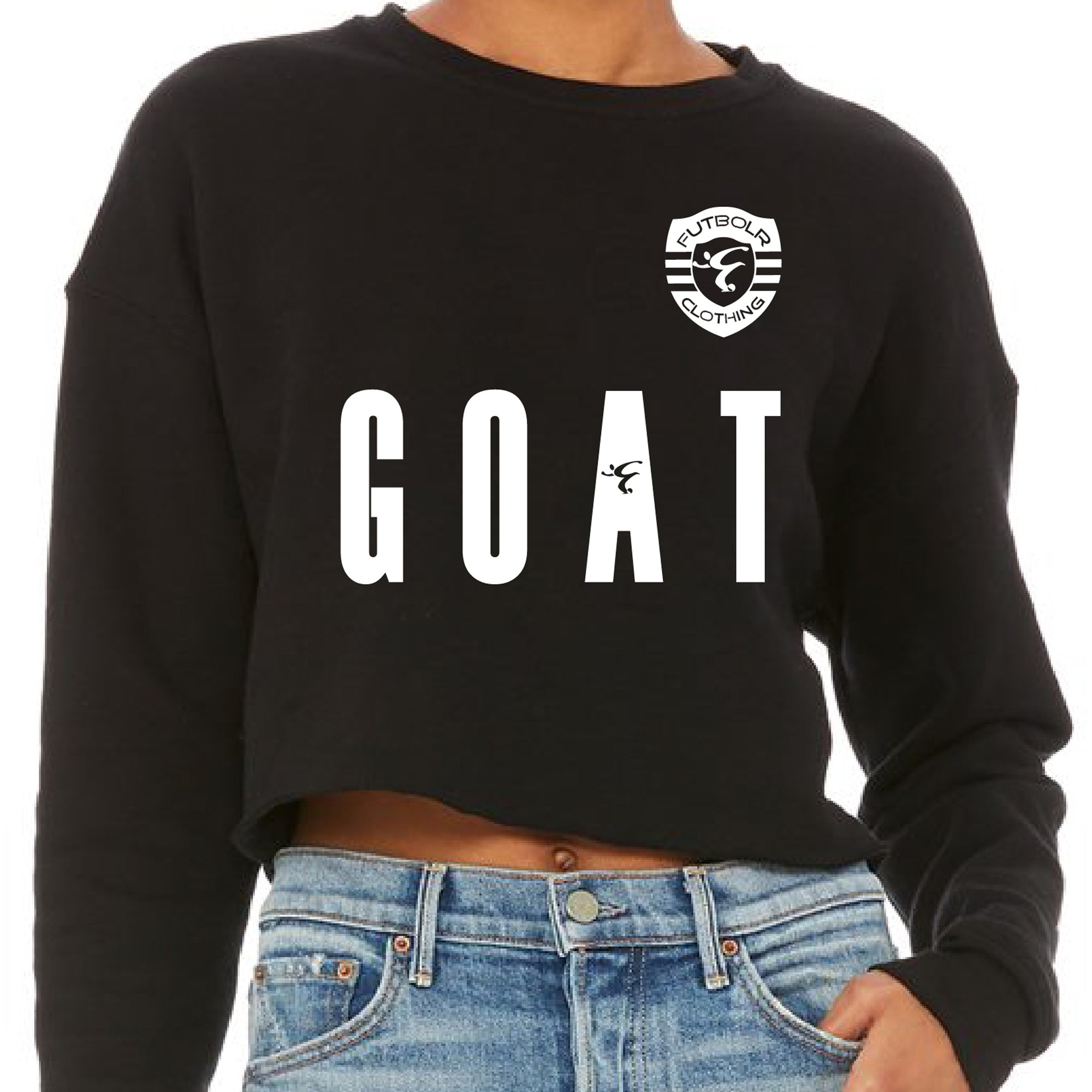 Futbolr Goat Women's Cropped Crew Fleece