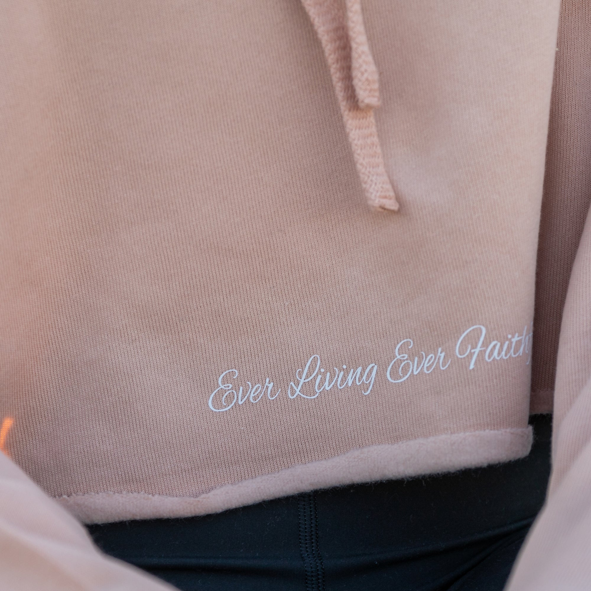 Ever Living Ever Faithful Crop Hoodie