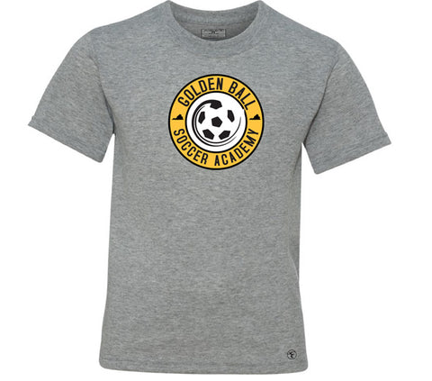 Golden Ball Soccer Tee - Gray