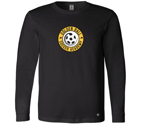 Golden Ball Soccer Long Sleeve Tee - Black