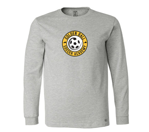 Golden Ball Soccer Long Sleeve Tee - Gray