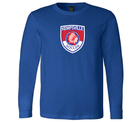 Kempsville Long Sleeve Cotton Tee - Royal