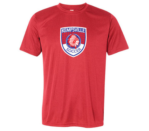 Kempsville Performance Tee Shirt - Heather Red