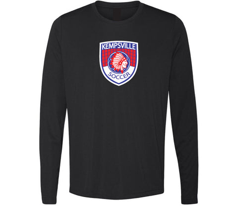 Kempsville Long Sleeve Performance Tee - Black