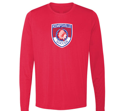 Kempsville Long Sleeve Performance Tee - Red