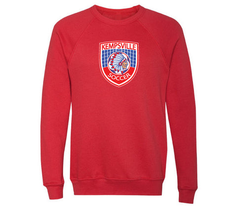 Kempsville Long Sleeve Cotton Tee - Red